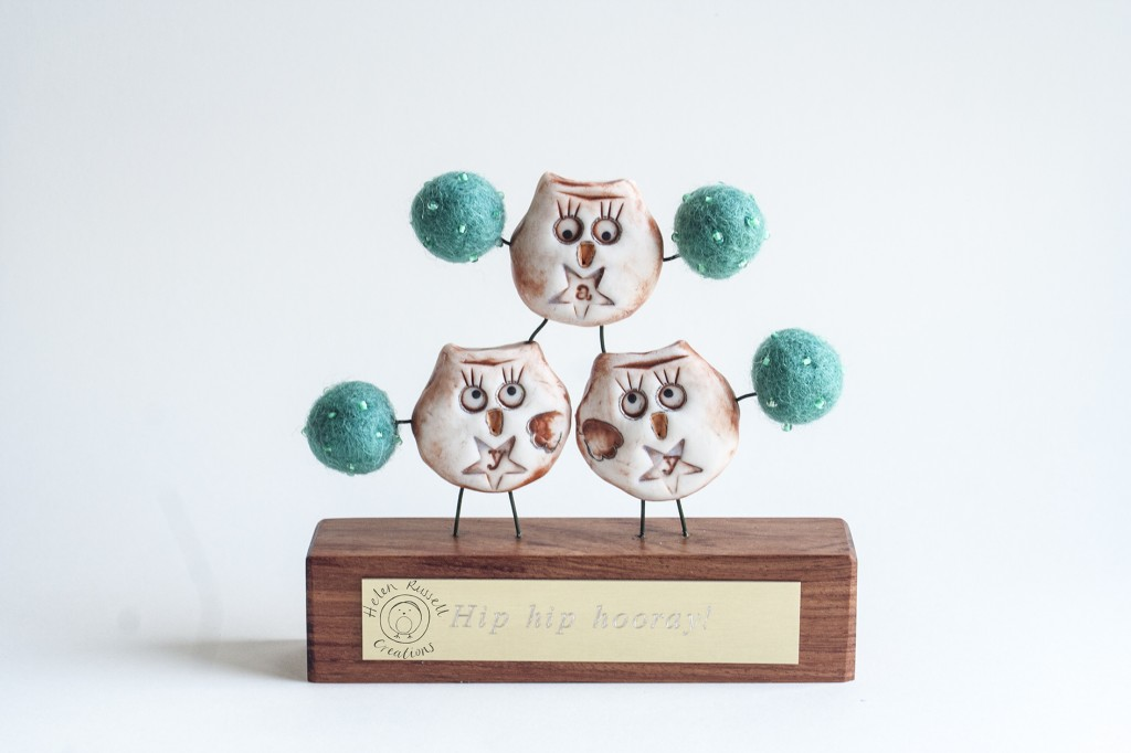 The Owlet formation cheerleading squad