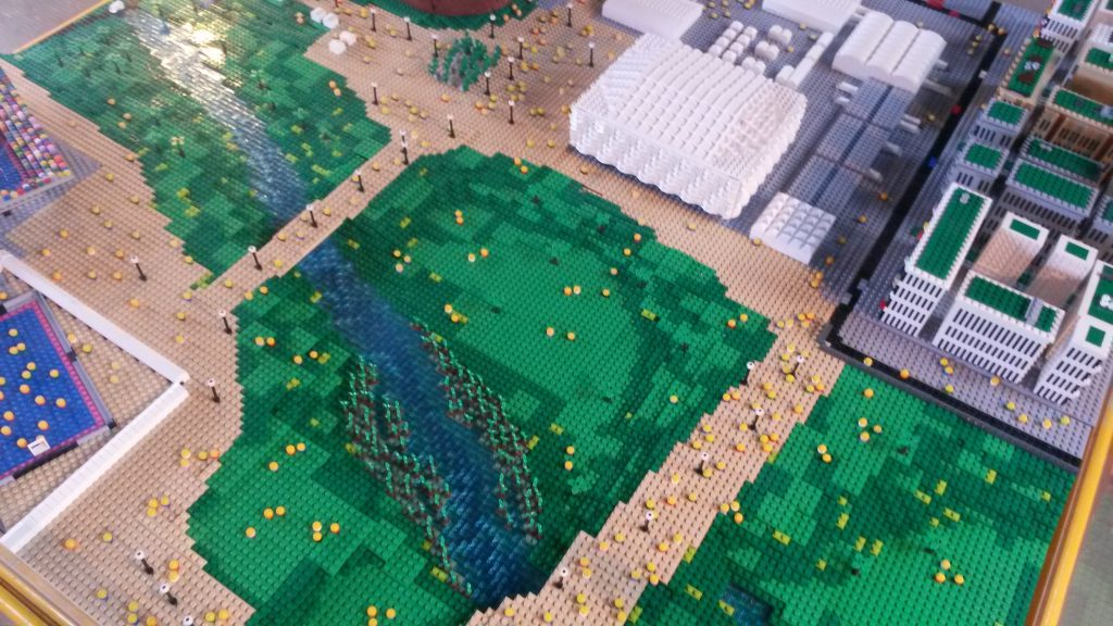 Detail from the Lego 2012 Olympic Park