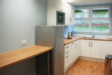 the communal kitchen in Craggs serviced offices