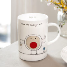Home is where the teabags are mug