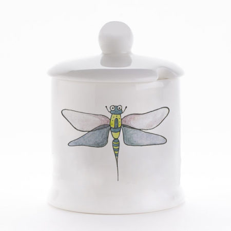 Dragonfly condiment pot