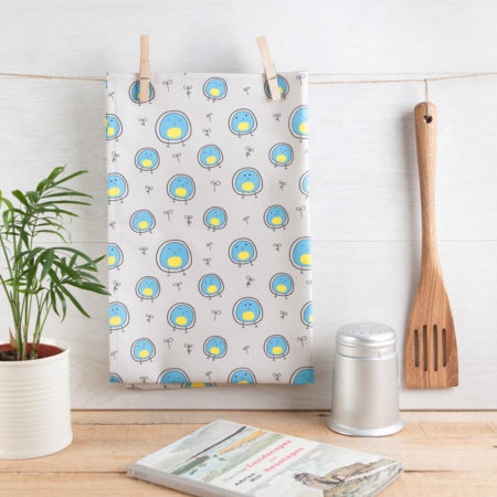 Polka Dot Blue Tea Towel Helen Russell Creations