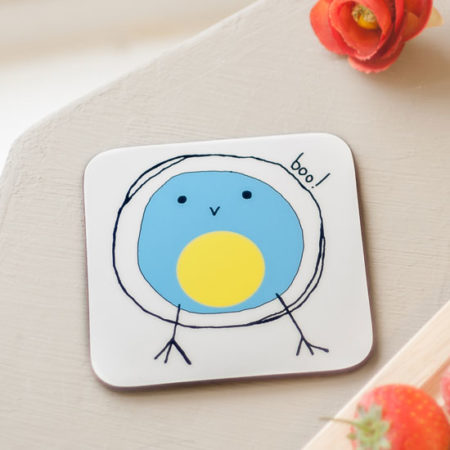 Bluetit boo coaster