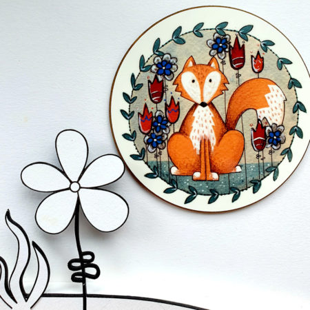 Woodland fox coaster