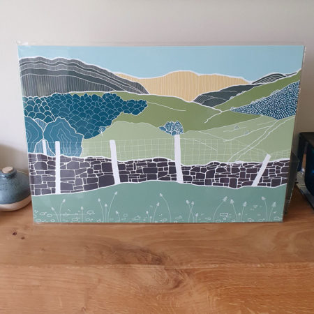 View from Castle Cragg test print