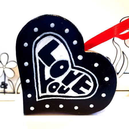 Love you heart decoration