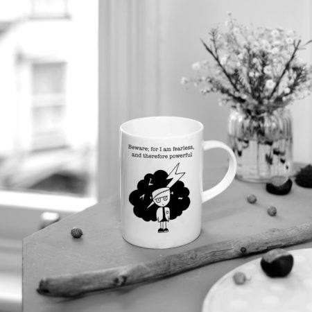 Frankenstein, I am fearless and therefore powerful mug
