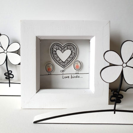 Love birds mini frame